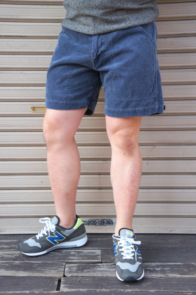 【SUNLIGHT BELIEVER】 70S CORD SHORTS -PIG NAVY-