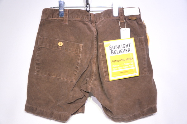 【SUNLIGHT BELIEVER】 70S CORD SHORTS -PIG BROWN-