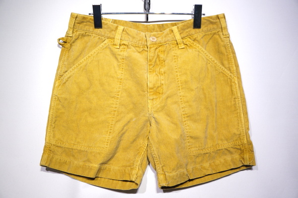 【SUNLIGHT BELIEVER】 70S CORD SHORTS -PIG GOLD-