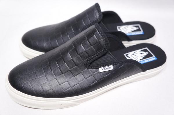 【VANS SURF】 MULE SF -LEATHER CHECKER BOARD BLACK- VN0A4U11XB8