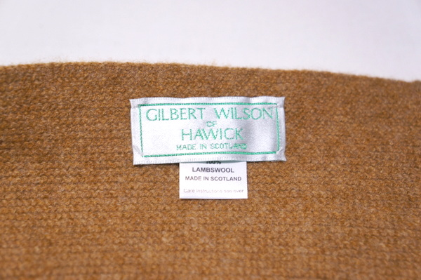 【GILBERT WILSON OF HAWICK】 PLAIN WARP KNIT SCARF -DRIFTWOOD- FULW300800