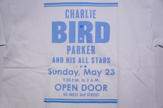 【MUSIC TEE】 CHARLIE PARKER -WHITE-