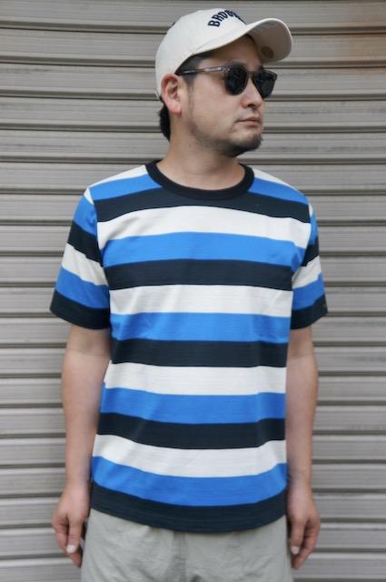 【LE MINOR】 BORDER TEE -BLUE BLACK-