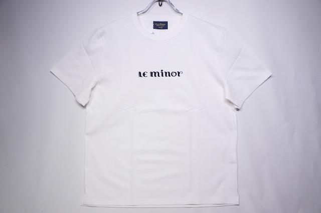 【LE MINOR】 LOGO TEE -WHITE-