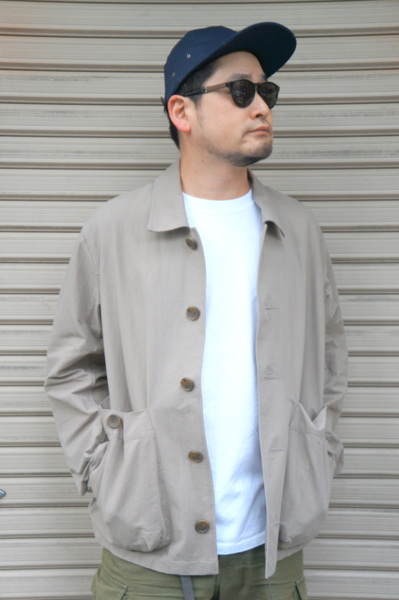 【SAGE DE CRET】 COTTON WASHI SHORT JACKET -BEIGE- 31-00-3124