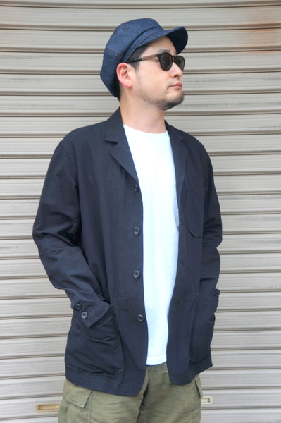 【SAGE DE CRET】 COTTON WASHI WORK JACKET -BLACK- 31-00-3125 (