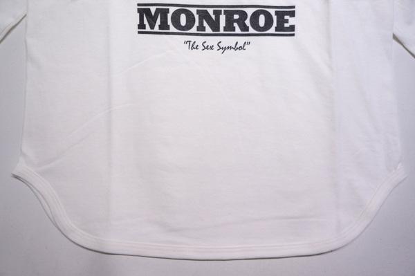 【HOMMAGE TEE】 MONROE 3/4 SLEEVE -WHITE-