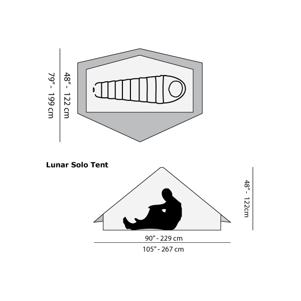 【SIX MOON DESIGNS】Lunar Solo Backpacking Tent [Gray][680g][2021]