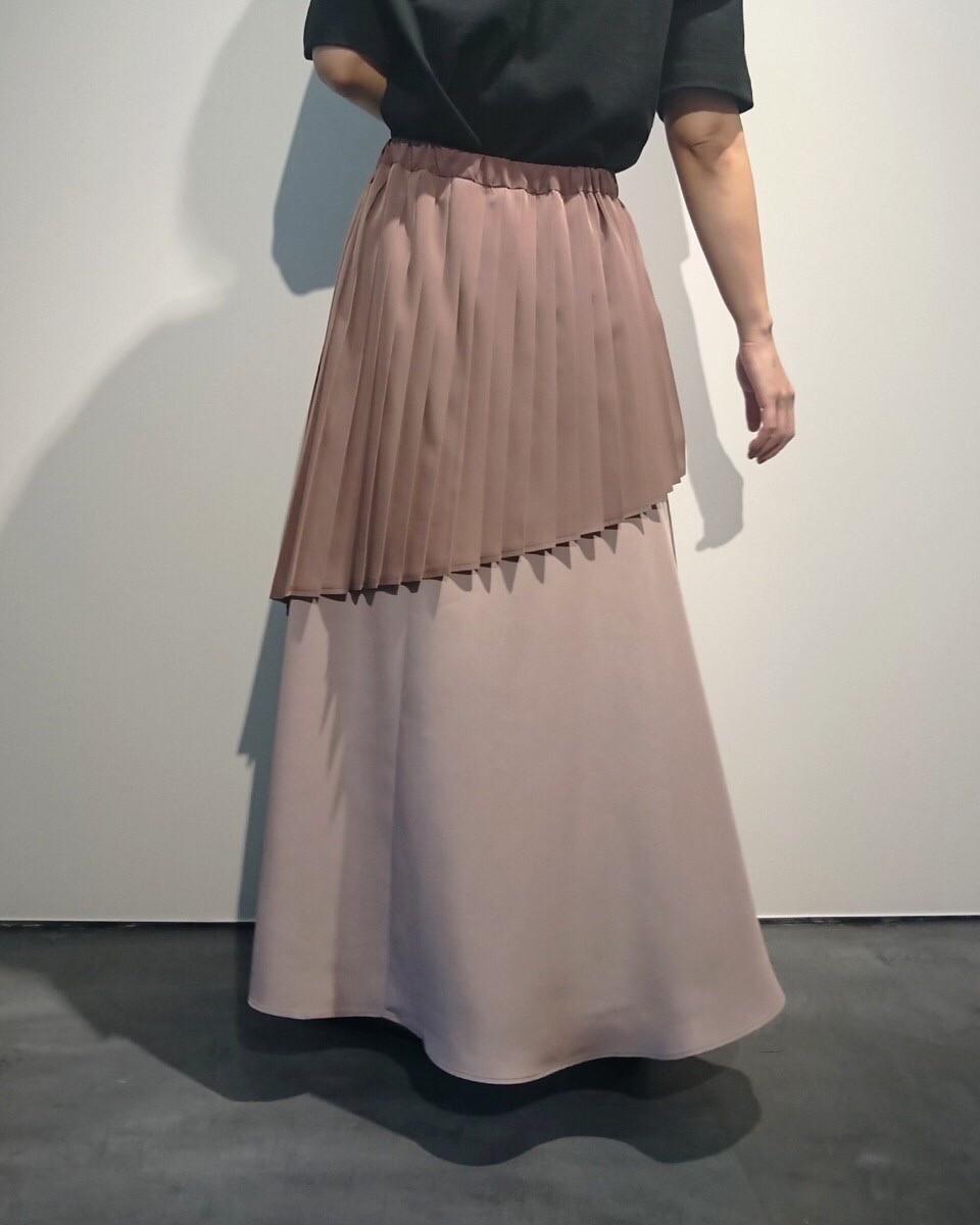 【MARECHAL TERRE】部分プリーツアシンメトリースカート