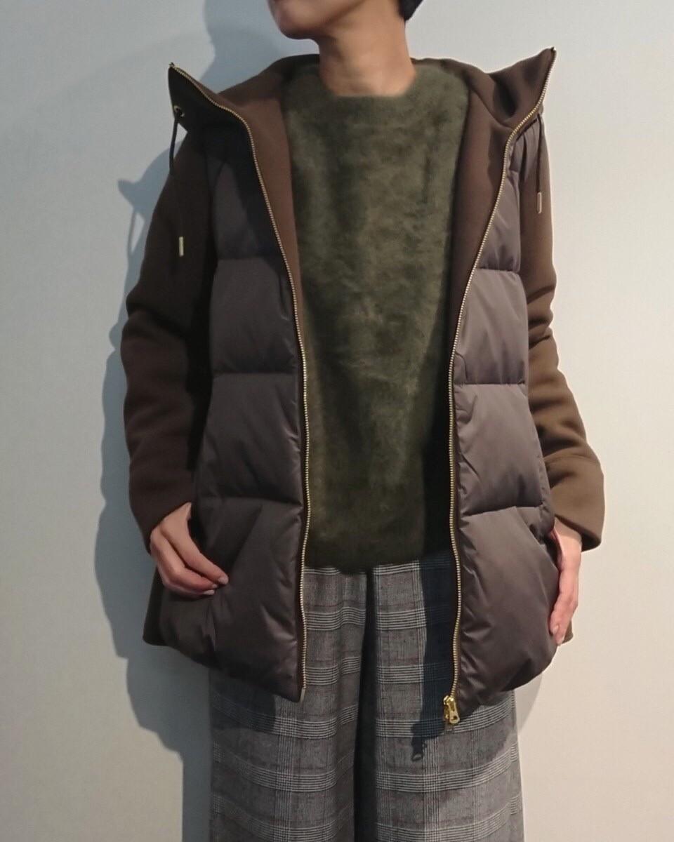 【araara】Aラインダウンフーディー