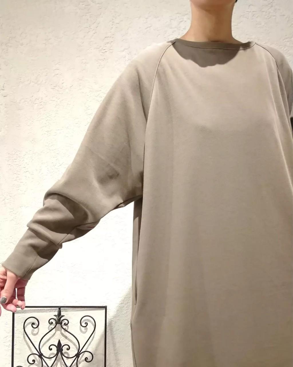 【MICA &DEAL】 ロング丈ダンボールニットワンピ