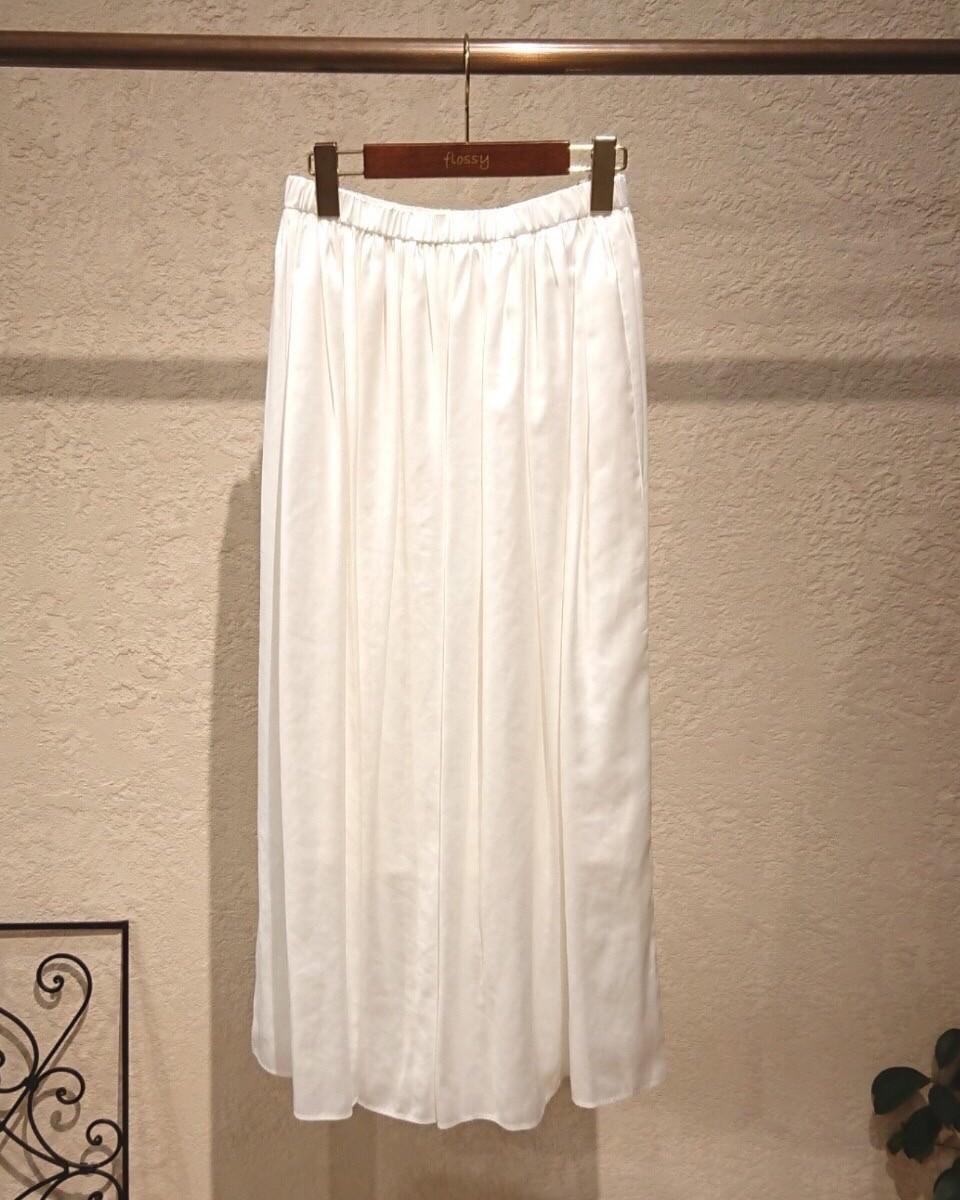 【Doneeyu】 レザーライクサテンスカート
