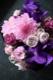アレンジメント L 本郷-hongo 定番人気の「極彩美」花器付きローズギフト