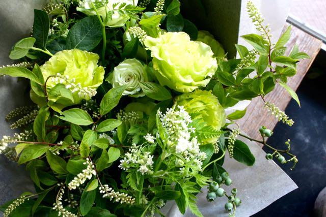 [ お供え花束 イレギュラー size ]蒼色-Soushoku - 癒しのグリーン色にこだわりました