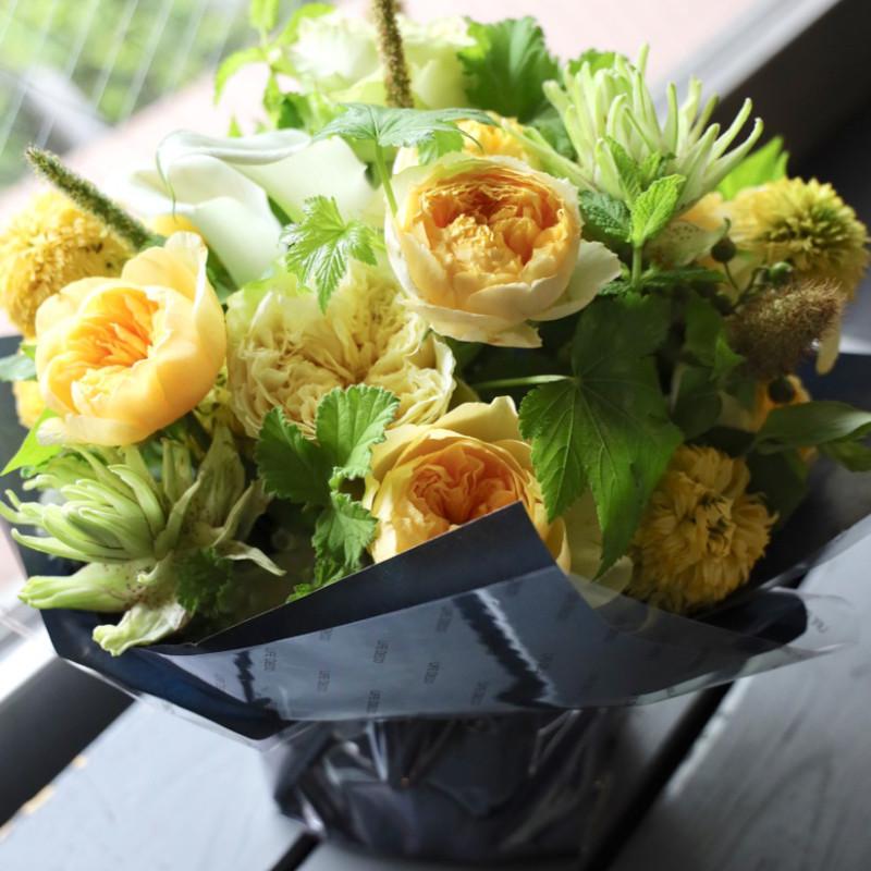 アレンジメント L 金麦 kinmugi 幸せを感じる新しい朝に飾りたくなるフラワーアレンジ