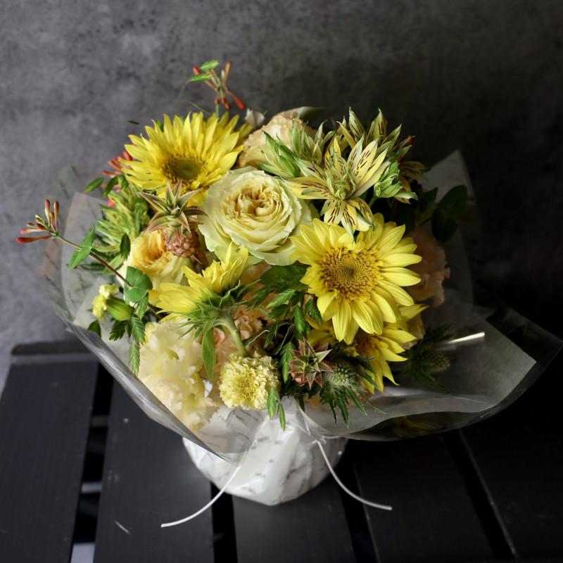 金麦 - kinmugi - 幸せを感じる新しい朝に飾りたくなるフラワーアレンジ  [ アレンジメント L size ]