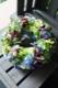 ★ 「6月」の花  碧海  ~ 季節限定の青色ハイドランジアとパフィオのアレンジで個性的に。   [ フラワーリース 38cm ]    都心エリア限定配送