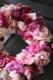 フラワーリース 38cm 美桃 mimomo どことなく水彩画のような優しげな奥行き感 レディライクなピンク系のグラデーションアレンジです   ★都心エリア限定配送配送