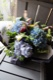 特選花束 2L 碧青- hekisei【6月の花】 季節限定の青色ハイドランジアとパフィオのアレンジで個性的に ★季節限定 5/25 ~ 7/20 ★都心エリア限定配送