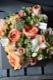 ★ 朱橙 ~ パッと明るく! 定番のビタミンカラーをライフデコ テイストのローズギフトで。 ~ [ ボックスフラワー 27cm ] 都心エリア限定配送