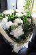 特選花束 2L 白玉 siratama これこそ優雅! 不変の王道 ホワイト&グリーンをモダンでシンプルに束ねました ★都心エリア限定配送