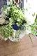 ★ 空色 ~爽やかなスカイブルーを添えた上質ガラスボールのふわっとアレンジ ~ [花器付きブーケ 3L size]   都心エリア限定配送