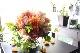 ★ 鉛丹 ~人気のオレンジ系のお花を束ねた上質ガラスボールアレンジ ~ [花器付きブーケ 3L size]  都心エリア限定配送