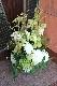 ★ 白磁 ~ラグジュアリーの王道、ホワイト&グリーンを都会的な庭園をイメージしたアレンジで ~ [ アレンジメント  トールタイプ ]  都心エリア限定配送