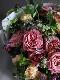花束 L 赤香 akakou【7月の花】バラと夏の花 暑い季節にも花もちが良い品種のバラと旬の花やハーブを合わせたブーケ ★季節限定 6/5~8/25