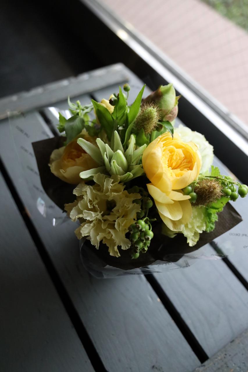 黄麦 - Kimugi - 幸せを感じる新しい朝に飾りたくなるフラワーアレンジ [ アレンジメント S size ]