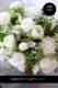 ★ 白嶺 ~ ラグジュアリーの王道、ホワイト&グリーンを都会的な庭園をイメージしたアレンジで ~ [ ロースタイルアレンジメント ] 都心エリア限定配送