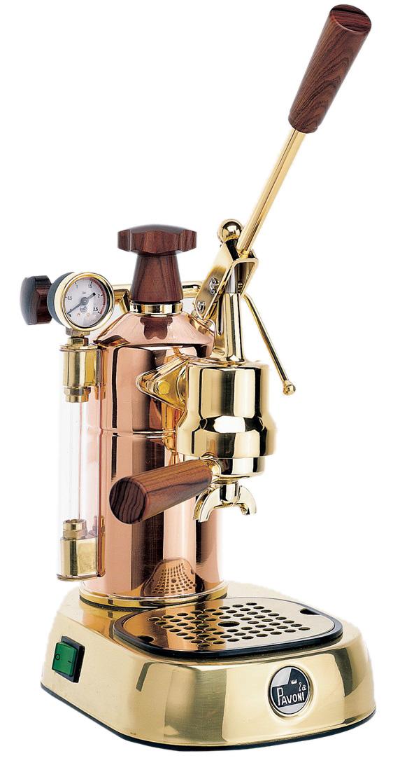 パボーニ社≪Pavoni≫ エスプレッソコーヒーマシン<br>PRG(銅・18金メッキタイプ)【正規輸入品】
