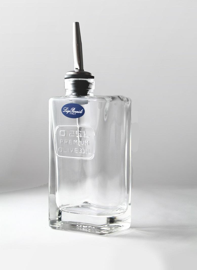 Luigi Bormioli(ルイジ ボルミオリ) オプティマ<br>OLIVE OIL BOTTLE(オリーブオイルボトル)<br>250ml【イタリア製】