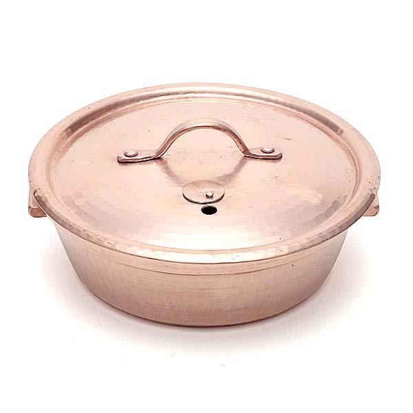 銅かぶせ蓋しゃぶしゃぶ鍋φ21cm(Flying Saucerオリジナル) 京都の名工 寺地茂 作【日本製】