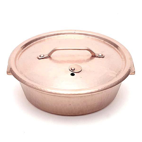 銅かぶせ蓋しゃぶしゃぶ鍋φ24cm(Flying Saucerオリジナル) 京都の名工 寺地茂 作【日本製】