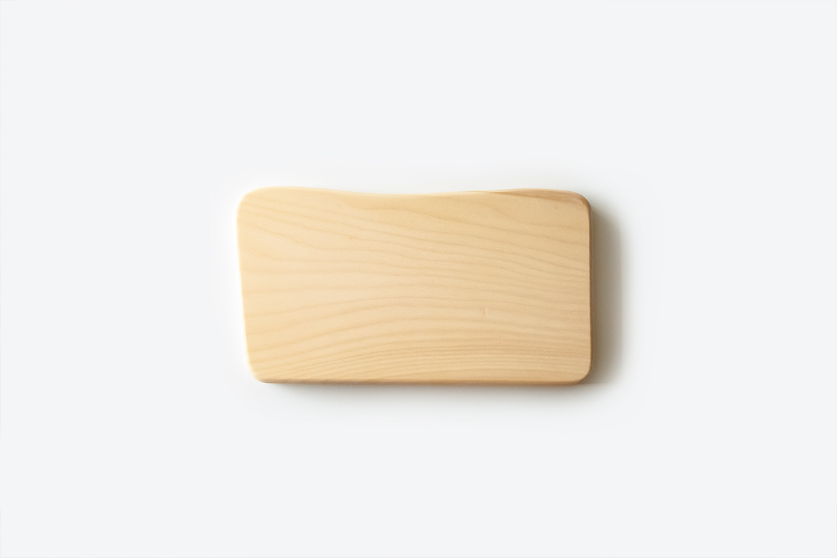 フライングソーサー オリジナル いちょうまな板 中【日本製】【職人の手作り】woodpecker ウッドペッカー 天然木 カッティングボード FS