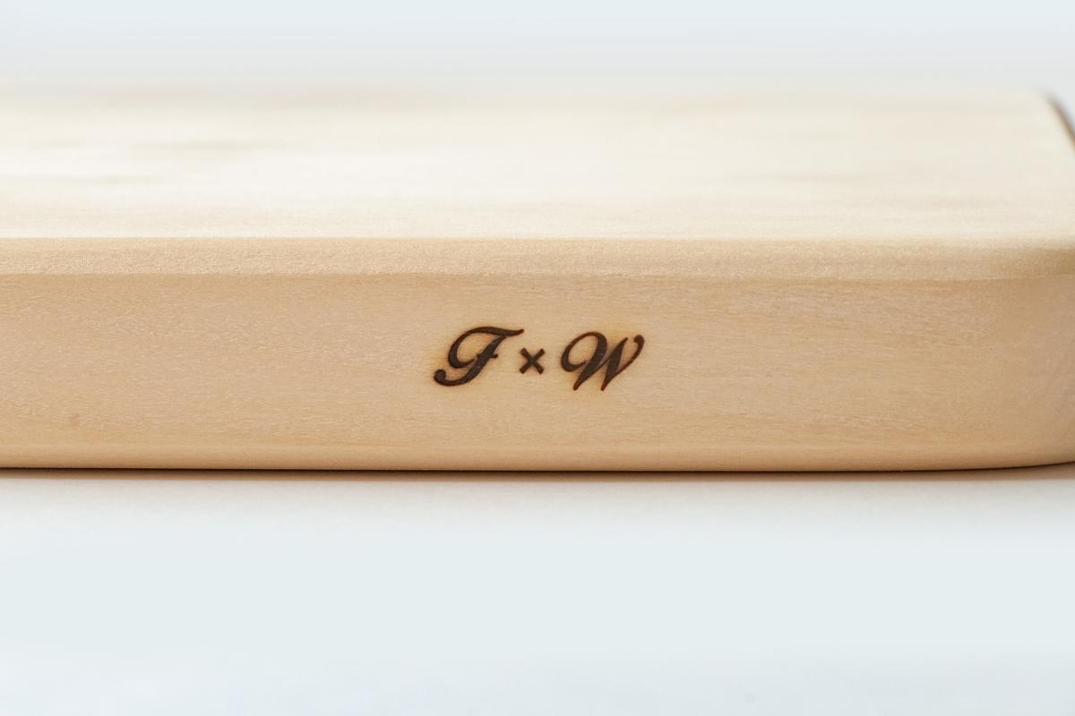 フライングソーサー オリジナル いちょうまな板 中【日本製】【職人の手作り】