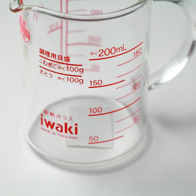 iwaki(イワキ) レンジメジャーカップ 200cc【耐熱ガラス 計量カップ】
