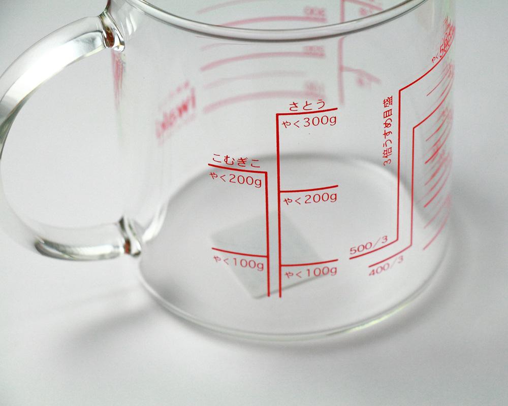 iwaki(イワキ) レンジメジャーカップ 500cc【耐熱ガラス 計量カップ】