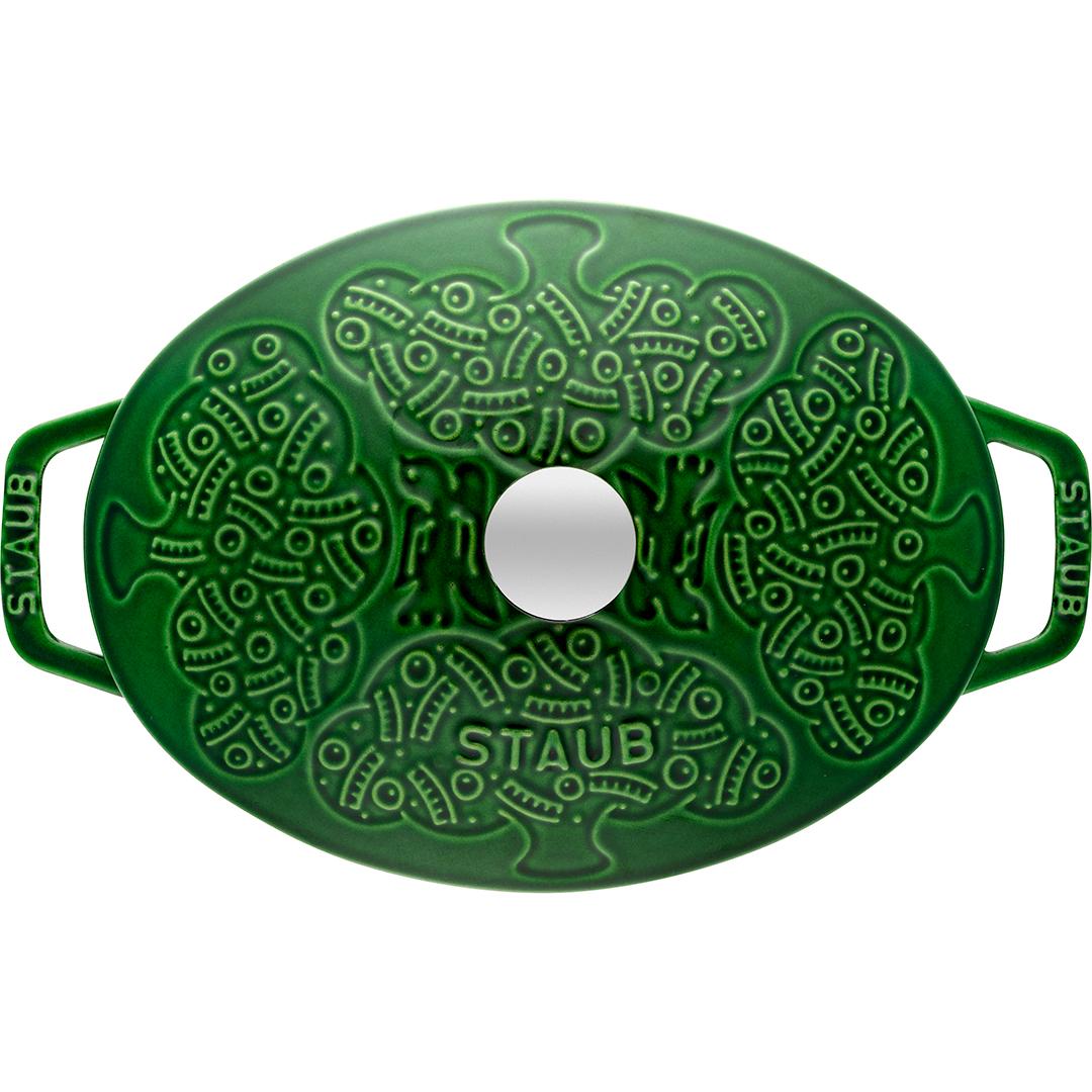 ストウブ staub フォレストココット オーバル 23cm バジルグリーン【正規輸入品】【生涯保証付】