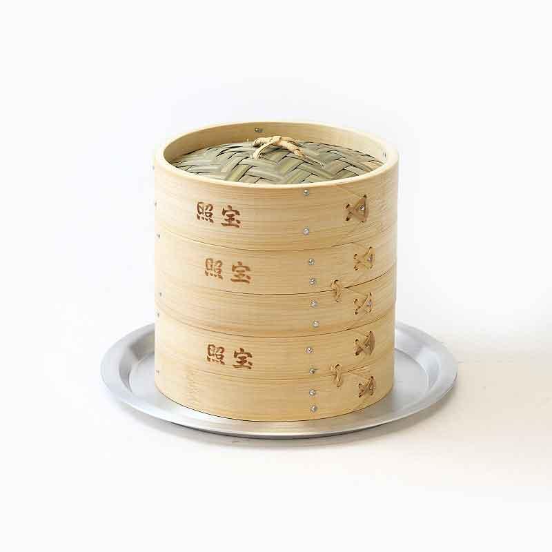 照宝 中華せいろ 竹製 蒸し板セット φ18cm