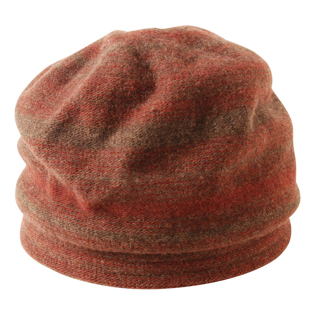 日本製 2色コンビニット女優帽