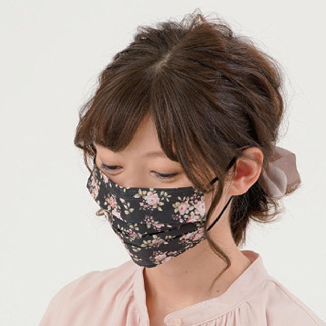 ローズ柄不織布マスク 3柄90枚