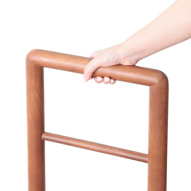 木製手すり付き玄関踏み台 100cm幅