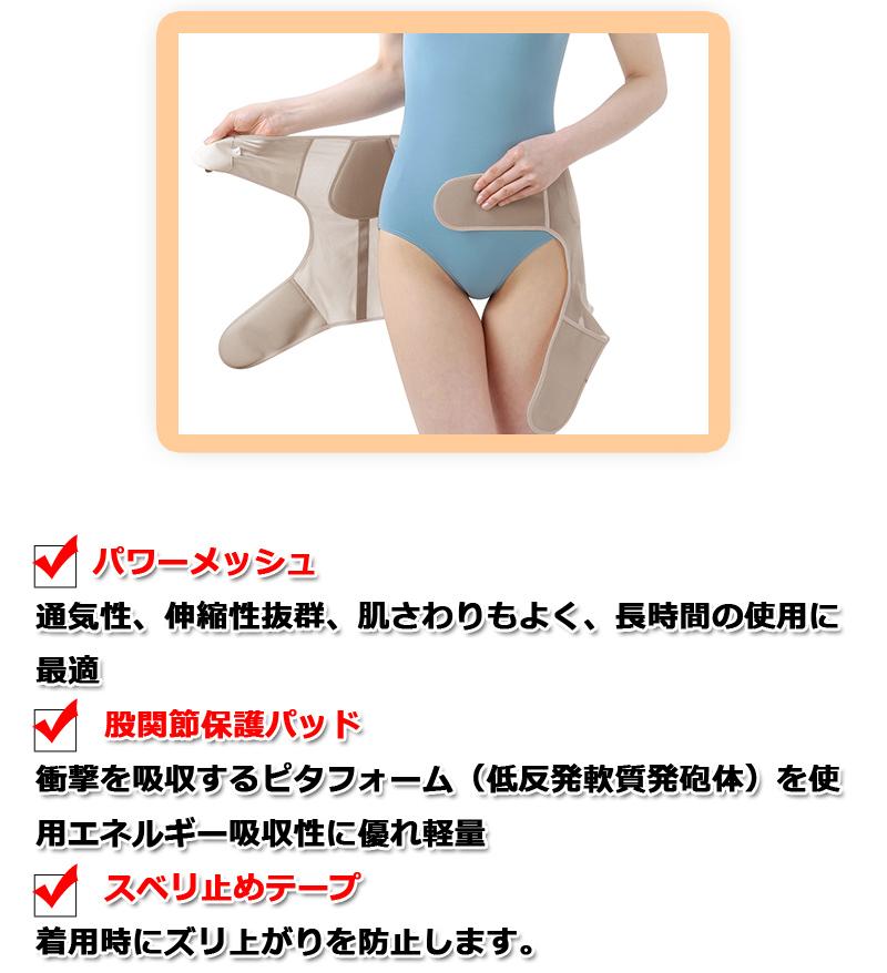 整体師さんが考案した うす楽股関節サポーター 両足用  モカ