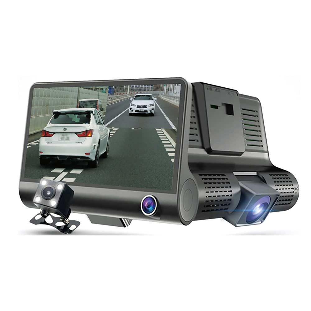 新型3画面同時記録ドライブレコーダー 駐車監視モード付き