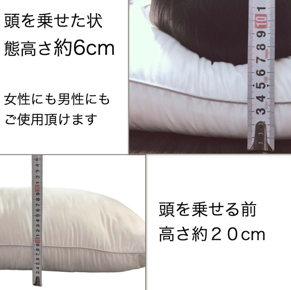 ホテル仕様防ダニまくら 43x63cm ミクロガード (R)プレミアム ホワイト