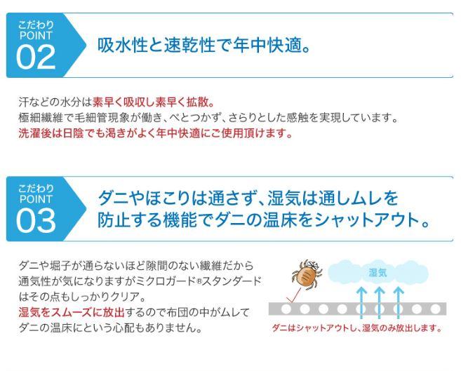 【オーダーサイズ】敷き布団防ダニカバー ミクロガード(R)スタンダード ※受注生産。納期約4週間強!