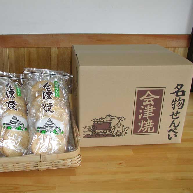 うかわ商店 純米名物せんべい「会津焼」9枚入り10袋