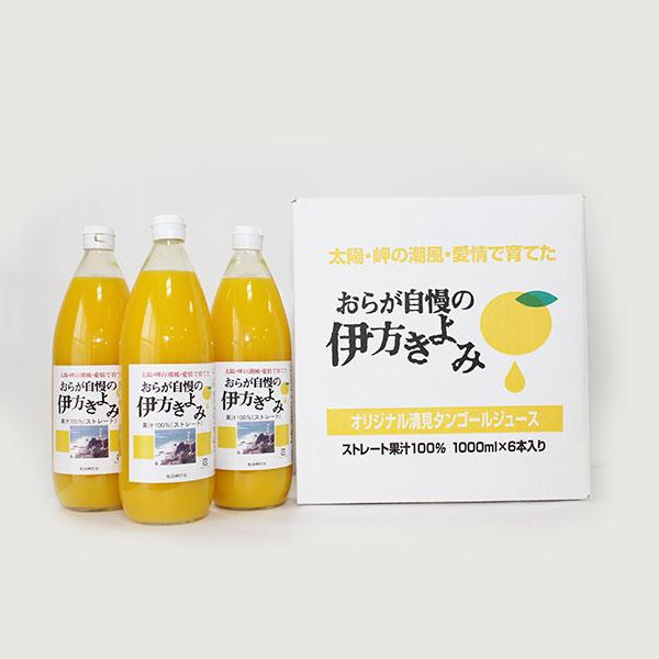 【食品ロス削減】おらが自慢の伊方きよみジュース1L×6本